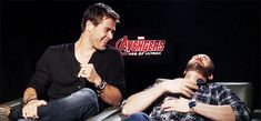 Chris Evans and Chris Hemsworth- more of a bromance but their compatibility is real and killing me