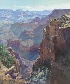 """The Grand Canyon"" Gunnar Widforss oil on canvas 36 x private collection. Watercolor Landscape, Landscape Art, Landscape Paintings, Watercolor Art, Oil Pastel Paintings, Desert Art, Southwest Art, Grand Canyon National Park, Mountain Landscape"