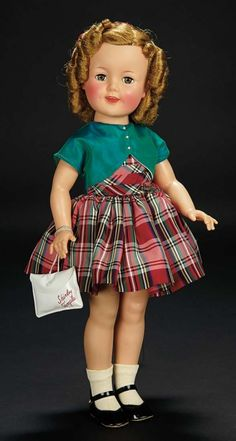 Love, Shirley Temple, Take Two: From Schoolgirl to Storybook: 319 Rosy-Cheeked Shirley Temple by Ideal in Plaid Taffeta Dress