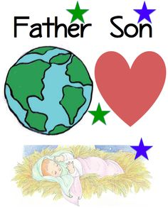 { Teaching } He Sent His Son - Sunbeam Singing Flipchart with great images, few words