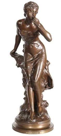 Artwork by Mathurin Moreau, 'Les adieux', Made of Bronze, brown patina