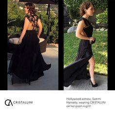 Ethereal #prom #dress by #CRISTALLINI! Actress Sammi Hanratty looked absolutely wonderful at her prom in a ravishing CRISTALLINI evening gown made out of pure silk, embellished with magnificent hand-sewn embroidery. #cristallini #actress #famous #sammihanratty #prom #promdresses #promnight #promgown #gowns #eveningstyle #eveninggown #eveningdresses #blackdress #dresses #fashion #style #romaniandesigner #luxury #hollywood #redcarpetstyle
