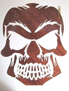 GRINNING Evil Skull Stencil Template Reusable 10 mil Mylar - CAD $8.97. You are buying a reusable, laser cut 10 mil Mylar stencil. The measurements of the image itself is 6 inches in width by 7 1/2 inches in height. Please feel free to ask questions and thanks for looking. 332425644398