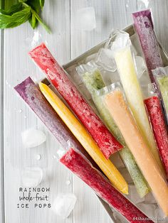 Rainbow Whole-Fruit Ice Pops