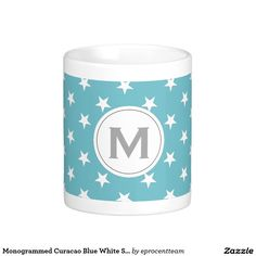 Start your day off right with a custom mug! Sip from one of our many Turquoise coffee mugs, travel mugs and tea cups offered on Zazzle. M Monogram, Create Your Own Mug, Wedding Mugs, White Coffee Mugs, Personalized Mugs, Classic White, Photo Mugs, Funny Jokes, Blue And White