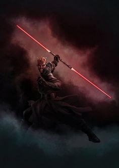Star wars tribute: Darth Maul - by DrManhattan-VA