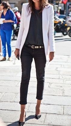 23 Business Outfits That Will Make You Say Wow ideen sportlich elegant ideen sportlich schick ideen sportlich sommer ideen sportlich winter Trajes Business Casual, Business Casual Outfits, Professional Outfits, Stylish Outfits, Cool Outfits, Formal Outfits, Pretty Outfits, Casual Attire, White Outfits