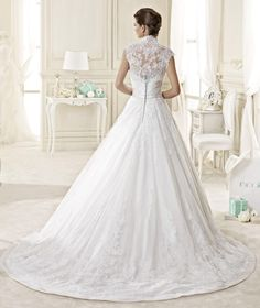 Charming Aline Strapless Sleeveless Beading Buttons Lace Sashes/Ribbons Court Train Lace Satin Tulle Wedding dresses  Model: A1643 Starting at: $329.99 Save: 31% off