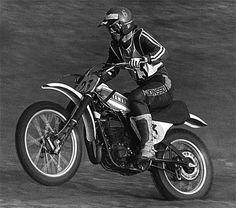 Ake onboard his works 400cc Yamaha in Sittendorf, Austria´s GP 1974