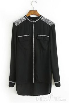 Clothing, Polished New Arrival Chiffon Embroidery Blouse , $22.99