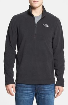 Northface pullover for Andy in glacier blue