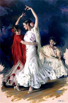 FLAMENCO.....PAINTING.....BY RICARDO SANZ.....BING IMAGES......