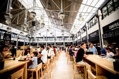 A Makeover for a Lisbon Food Market | via New York TimesTravel | 10/09/2014 The recently renovated Mercado da Ribeira in Lisbon, situated near the Tagus River since 1892, already qualifies as a major food destination.  The 75,000-square-foot food court, a sizable portion of which opened in May (the rest of the market is scheduled to be completed by the end of the year), allows hungry travelers the opportunity to sample the city's best eats in one place. #Portugal Photo:The Mercado da…