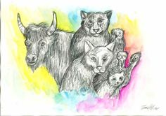 Paint by Lalingla on DeviantArt Social Community, User Profile, Worlds Largest, Moose Art, Deviantart, Artist, Animals, Painting, Drawing Pictures