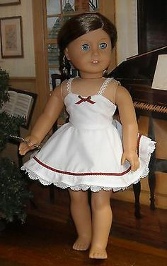 Holiday Slip and Panties Made by KMK Fits Popular 18 inch Dolls | eBay. Sold 11/17/13 for $49.00.
