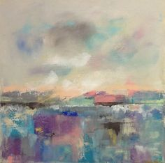 Colorful Abstract Landscape Original Acrylic by lindadonohue