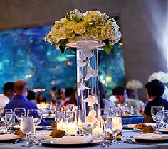 aquarium themed wedding table