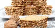 Din bucătăria mea: Prajitura cu foi de napolitana si nuca - I Cook Different Romanian Desserts, Romanian Food, Mini Desserts, Sweet Desserts, Sweets Recipes, Cake Recipes, Waffle Cake, Wafer Cookies, Recipe Mix