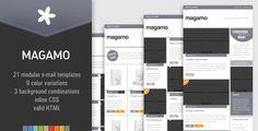 MAGAMO - 21 modular e-mail templates
