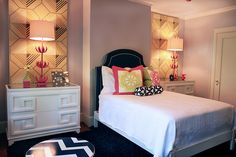 Classic look with funky vibe! Great for a girls/guest room.