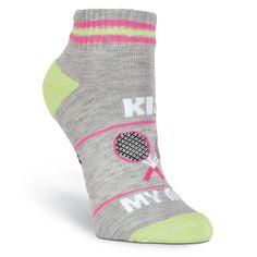 K.Bell Green Stripe Lucky Socks Ladies Crew White Green Stripe Socks New