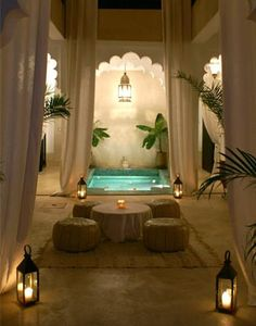 Evening in the riad