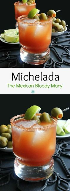 The Mexican Bloody Mary - The Michelada. Add a little spice to your life with a Michelada. The perfect balance of tomato, lime, hot sauce and an ice cold beer. A tradition that you shouldn't miss. Bloody Mary Recipes, Bloody Mary Recipe With Clamato, Best Bloody Mary Recipe, Mexican Food Recipes, Vegan Recipes, Cooking Recipes, Fun Recipes, Refreshing Drinks, Bon Appetit
