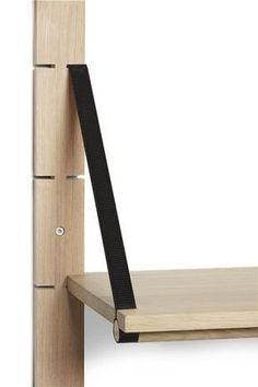 "milo–vs: ""Strap shelf deep by Bolia "" Wood Furniture, Furniture Design, Cheap Furniture, Discount Furniture, Antique Furniture, Furniture Ideas, Modern Furniture, Furniture Outlet, Furniture Makeover"