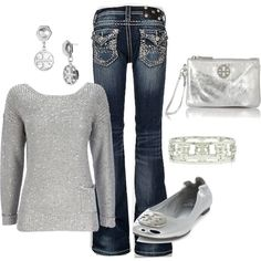 A fashion look from October 2012 featuring Wallis sweaters, Tory Burch flats and Tory Burch clutches. Browse and shop related looks.