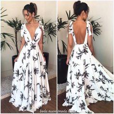 Bohemian V Neck Belted Printed Colour Bare Back Dress – Stylnbo Bare Back Dress, Dress Backs, The Dress, Dress Skirt, Casual Dresses, Fashion Dresses, Prom Dresses, Summer Dresses, Formal Dresses