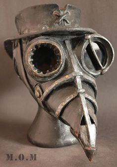 Steam Punk Plague Doctor mask. Where would I wear it? Who knows! I still want it.
