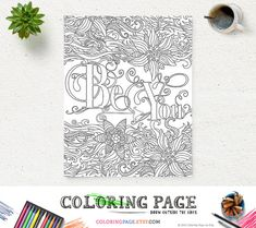 Be You Printable #ColoringPage Instant Download Art Zen Printable Adult Coloring