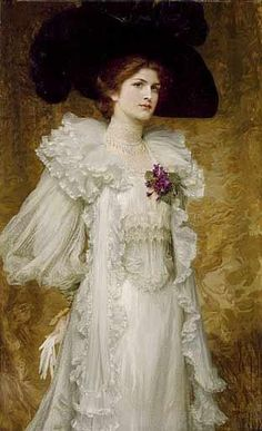 My Lady Fair by English Painter Sir Frank Dicksee 27 November 1853 - 17 October 1928