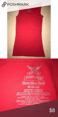 Faded Glory Red Tank Make me an offer ❤ Faded Glory Tops Tank Tops