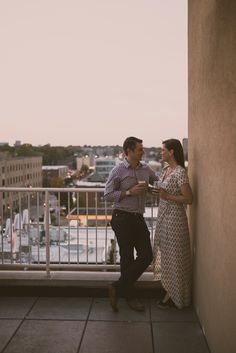 City Engagement Photos - St. Louis Modern Wedding Photographer - St. Louis engagement photos - Rooftop Terrace Moonrise Hotel — Charis Rowland Photography #engagement #photos #pictures #couple #stlouis #romantic #modern #rooftop #city