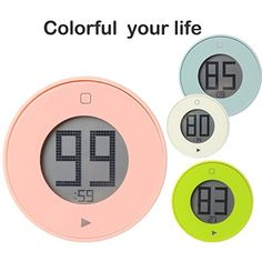 Deercy Digital Kitchen Timer with Large LCD Display Built-in Magnet, Simple and Easy-to-use Timer (Light Pink)