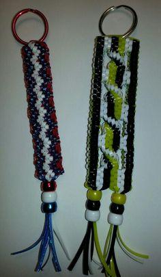 Boondoggle; scoubidou; craft lace; rexlace; keychain; diy; gimp