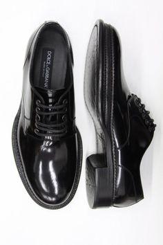 shoes by DOLCE&GABBANA derby cuir veau glacée 100% semelle cuir 100% Réf. DOL-BAS-H-81048