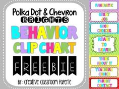 FREEBIE! Behavior clip chart!!