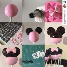 Minnie mouse cakepops (mickey mouse cupcake ideas)