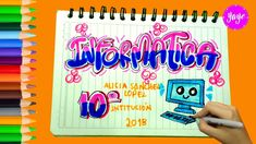 My Notebook, School Hacks, Cover Pages, Pop Art, Notes, Tumblr, Lettering, Writing, Projects