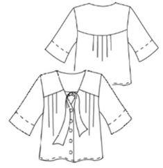 Hot Patterns Artful Dodger Prudence blouse Tunics, Blouses, Artful Dodger, Tunic Blouse, Fashion Sewing, Smocking, Sewing Patterns, Hot, Women
