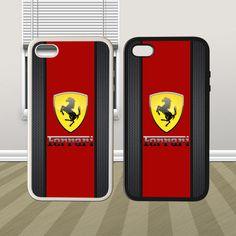 Ferrari Logo Hybrid iPhone 4 4s 5 5s 5c Case Cover Hard