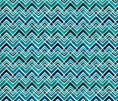 Arrowhead Watercolor Chevrons fabric by wildnotions on Spoonflower - custom fabric. Framed wallpaper swatches $5 for non-precious art in sunny spaces.