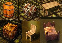 "Fantasy Paper Miniature Models: Hero-quest style furniture for your dungeon by Eddnic UPDATE:  the link above the pictures does not work - go to the top of the page and click ""more"" - that will lead you to the Nov 2015 links"