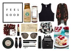 """Feel Good"" by itsme-bibicha ❤ liked on Polyvore featuring Korres, Art Classics, Zara, Bobbi Brown Cosmetics, H&M, RetroSuperFuture, Barneys New York and Oribe"