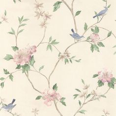 Floral Bird wallpaper by Norwall