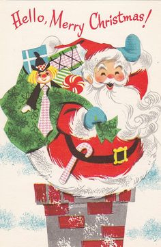 "Vintage Christmas ""toy"" card, from the Coronation Collection. Card opens up to a toy cutout Santa."