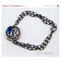 Ravenclaw Inspired House Seal Bracelet, Letter R Sapphire Bracelet,... ($19) ❤ liked on Polyvore featuring jewelry, bracelets, harry potter, initial pendant jewelry, initial pendant, vintage style jewelry, hammered jewelry and initial bangle