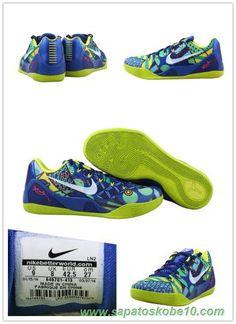 "Masculino Azul / Amarelo 646701-413 Nike Kobe 9 EM ""jogo Real"""